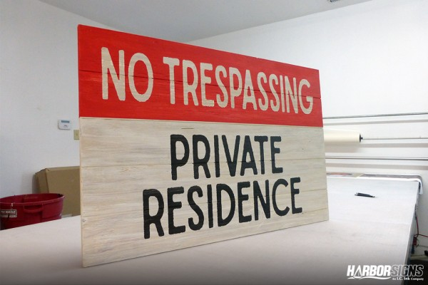 No Trespassing – Hand Painted Sign